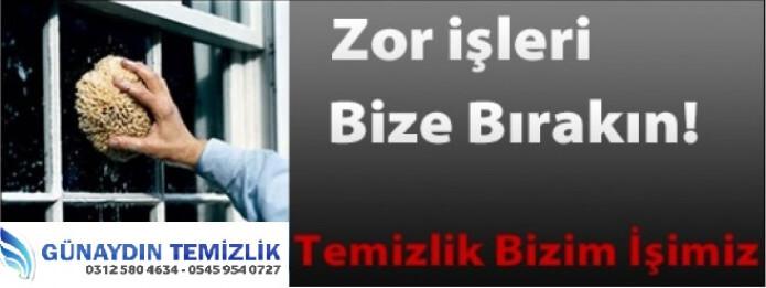 Ankara Temizlik Şirketi Tavsiye – Günaydın Temizlik